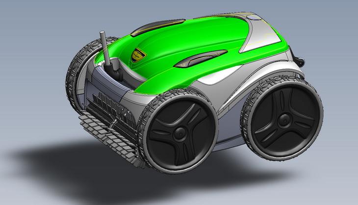 Zodiac Vortex robotic designer consumer CAD DESIGNER