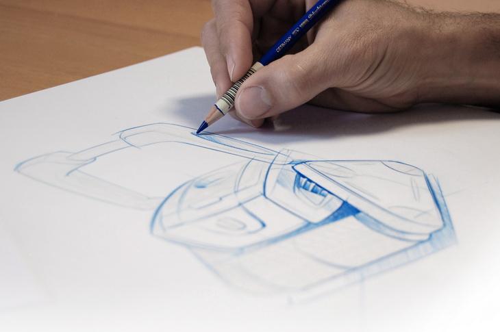 zodiac cyclonx consumer design robotic sketch