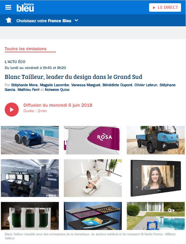 Blanc Tailleur Design R&D France bleu FRANCEBLEU France-bleu