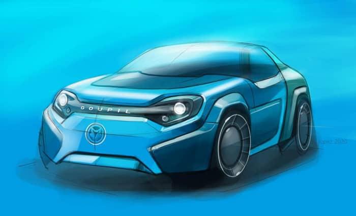 Goupil premier avril voiture électrique electric sport car april's fool