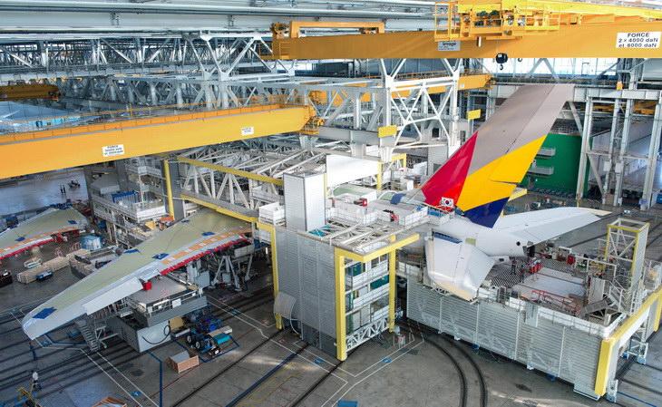 AIRBUS FAL-A380 design production tools rear