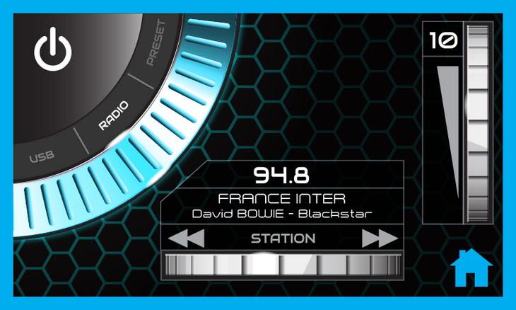 Actia interface haptique UI design transport