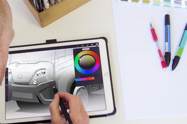 Polaris goupil G4 design transport electric sketches