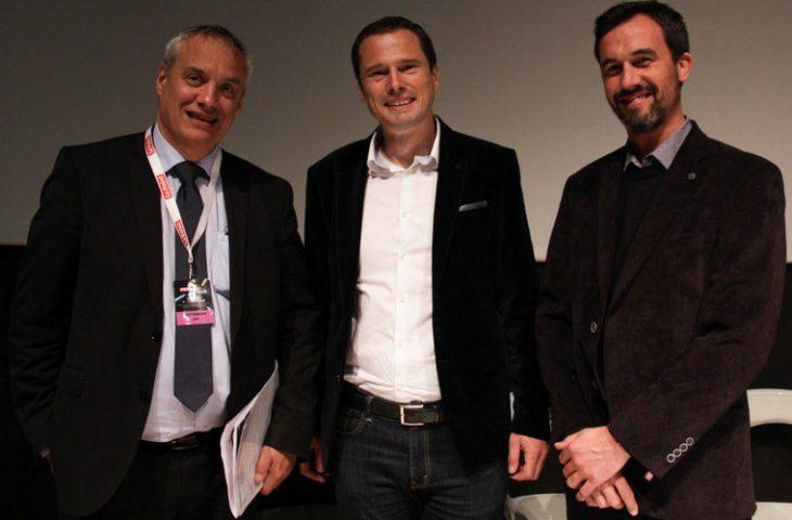 Jean Paoletti, président d'Ambition Toulouse Métropole et deux dirigeants de Blanc Tailleur