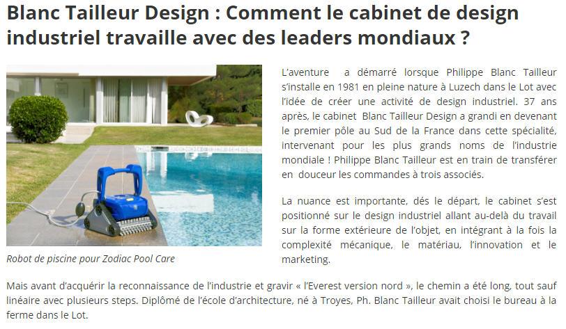 article presse Blanc Tailleur Design www.entreprises-occitanie.com